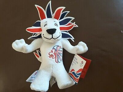 "Team GB Pride The Lion Mascot Plush Soft Toy Olympics Great Britain London 12"" • 3.50£"