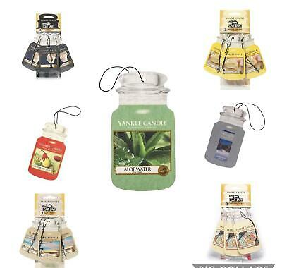 YANKEE CANDLE 3Pack/Single Classic Car Jar Air Freshener - Various Scents  • 6.45£