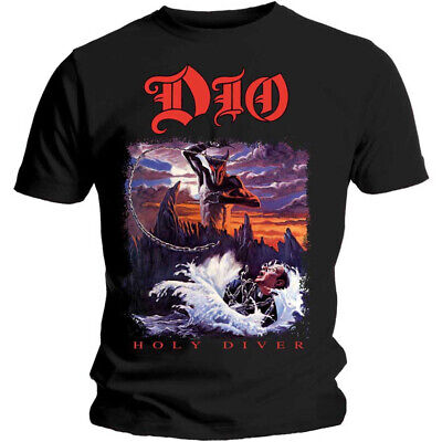 Dio 'Holy Diver' (Black) T-Shirt  - NEW & OFFICIAL! • 13.99£