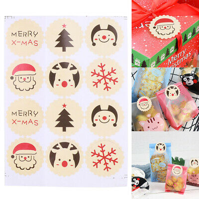 48x Christmas Sticky Stickers Labels Gift Envelope Seal Party Bags Present Label • 1.99£