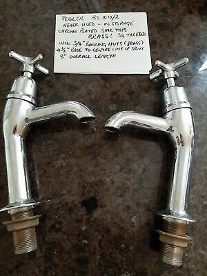 Traditional Pegler Chrome Bath & Basin Taps - Complete Set, Never Been Used. • 70£