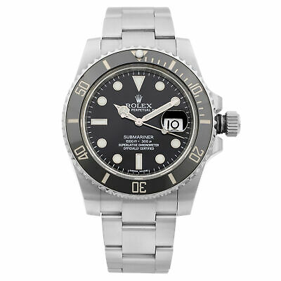 $ CDN15866.12 • Buy Rolex Submariner Date Steel Ceramic Black Dial Automatic Mens Watch 116610LN