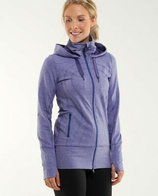 $ CDN24.99 • Buy Lululemon Heathered Royalty Hooded In Stride Jacket Size 4