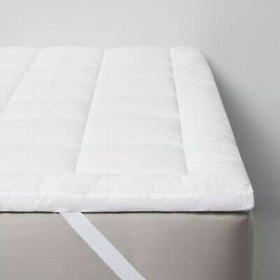 """$24 • Buy By Design Quilted Pattern Full Mattress Pad In White 54""""x75""""x1.5"""" New Lot 007-SH"""