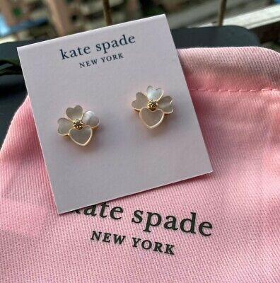 $ CDN30.61 • Buy Kate Spade New York Precious Pansy Mother Of Pearl Stud Earrings