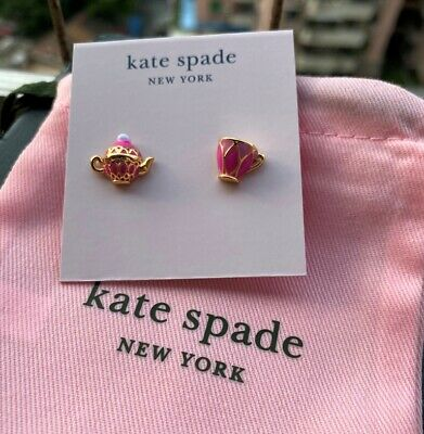 $ CDN27.99 • Buy Kate Spade New York  Pink Tea Time Coloured Stud Earrings