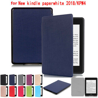 For Amazon Kindle Paperwhite 4 10th Gen 2018 E-Reader Leather Smart Case Cover • 5.88£