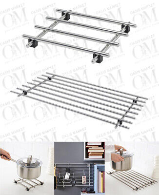 £5.99 • Buy Stainless Steel Cooking Rack Trivet Pot Pan Stand Hot Dishes Table Protector