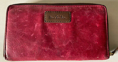 Jane Shilton Pink Leather Purse Good Condition • 12£
