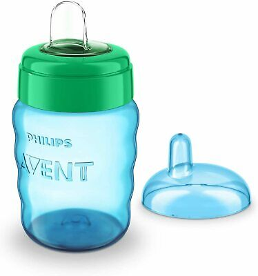 £7.84 • Buy Avent Easy Sip Soft Spout Cup 260ml Baby Toddler Weaning Drink Beaker Blue New