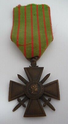 France / French Ww1 Croix De Guerre Medal 1914 - 1917   • 21.99£