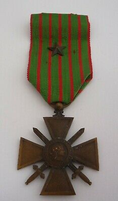 France / French Ww1 Croix De Guerre Medal 1914 - 1916 With Citation Star • 24.99£