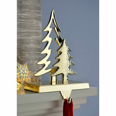 £9.99 • Buy Christmas Tree Stocking Holder Decoration Gold Plated Metal 18 Cm