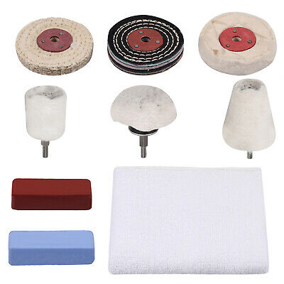 £14.99 • Buy 9PCS Professional Alloy Wheel Polishing Buffing Kit Drill For Metal Jewelry NEW
