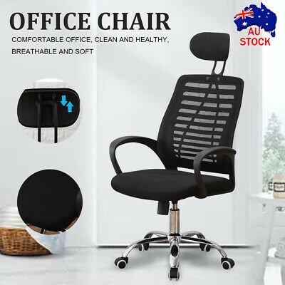 AU70.89 • Buy High Back Adjustable Breathable Ergo Mesh Office Computer Chair  Lumbar Support