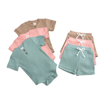 $13.69 • Buy Newborn Baby Boy Girl Clothes Romper Jumpsuit Shorts Pants Toddler Outfits Set
