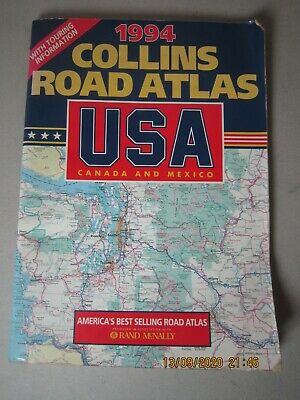 Collins Road Atlas: USA, Canada And Mexico: 1994, , Used; Good Book • 6.99£