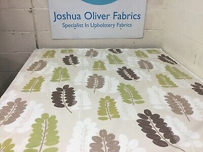Ashley Wilde, Green,Taupe & Brown Leaf Design Soft Furnishings Fabric, Free P&P • 5£