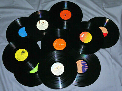 Mixed Lot Of 10 X 12 Inch LPs Vinyl Records For Craft, Upcycling Projects Etc.  • 3£