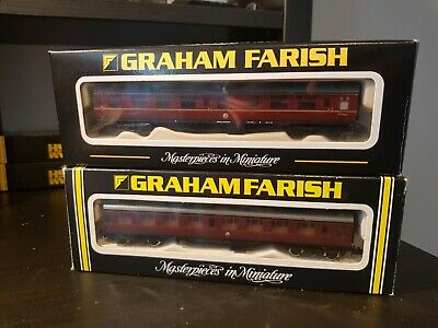 2x Graham Farish,  BR Mk1 Coaches  Maroon , Boxed N Gauge • 14.40£