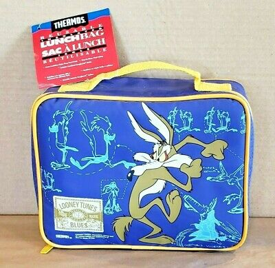 Vintage 1995 Looney Tunes Road Runner & Coyote Thermos Lunch Bag New With Tags!! • 50.03£