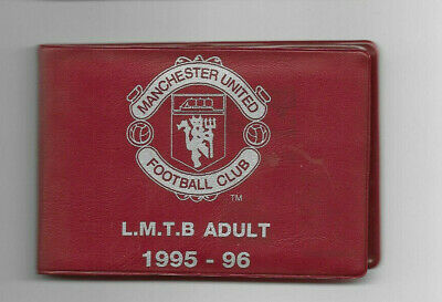 MANCHESTER UNITED FC - 1995/96 Season Ticket Book (includes 28 Spare Vouchers) • 2.99£