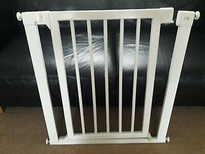 Mothercare Easy Close White Wood Safety Gate, Pressure Fix • 5£