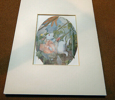 Vintage 1916  Margaret Tarrant Book Print Of The White Rabbit,  .with Mount • 7£