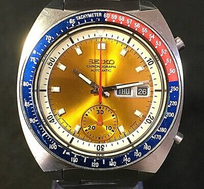 $ CDN1442.10 • Buy Seiko Pogue Pepsi 6139-6002 Excellent Vintage Chronograph Rare Made In 1975 Used