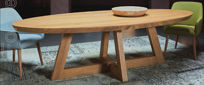 AU1500 • Buy Solid Oak Dining Table Ex-Display Stock Nick Scali, Guadiana 8 Seater RRP $3000