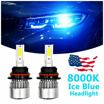 $19.99 • Buy 9007 HB5 8000K Ice Blue LED Headlight Bulbs Low Beam Conversion Kit Pair US