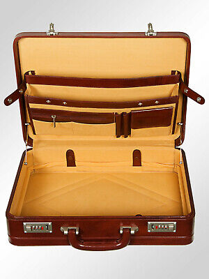 $142.99 • Buy Men Hard Expandable Briefcase Genuine Leather Vintage Style Attache Doctor Bag