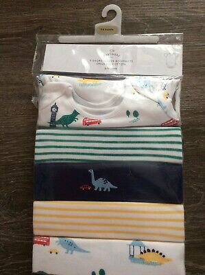John Lewis Boys Short Sleeve Body Suits, Age 3-6 Months • 11£
