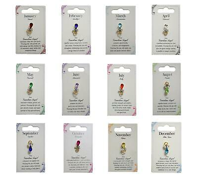 Xpressions Guardian Angel Birthstone Pin Badge Gift Birth Month • 3.99£