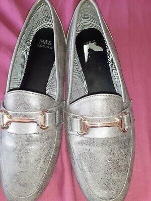 Marks And Spencer Ladies Pewter Slip On Shoes Size=6*NEW* • 9.99£