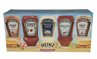 Heinz Sauce Ketchup Mayonnaise Picnic Pack Of 5 Squeezy Bottle Sauces 1185G Gift • 10.99£