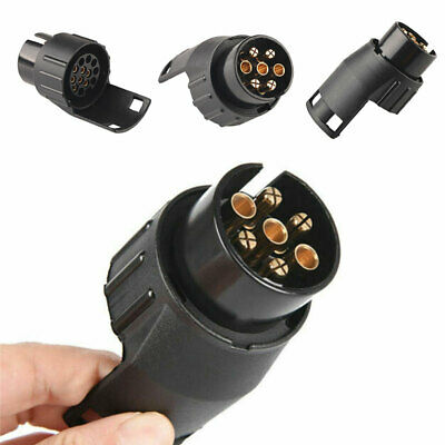 7 To 13 Pin Truck Trailer/Caravan Towbar Towing Socket Adapter Plug Converter UK • 7.67£