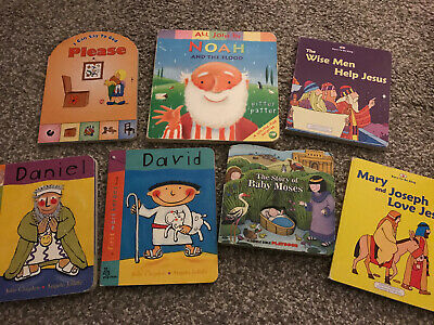 Board Childrens Toddler Books Bible Stories X 7 • 0.99£