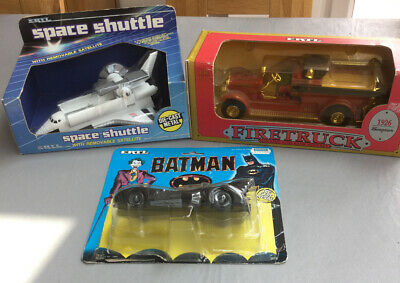 Ertl Model Job Lot Space Shuttle / Firetruck / Batmobile • 13£