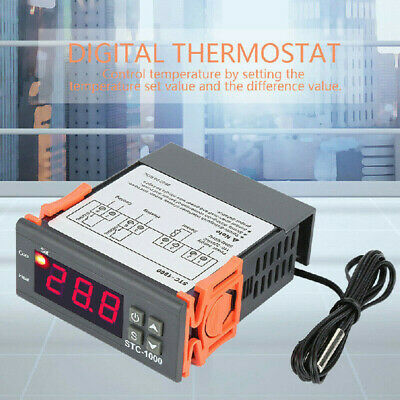 AU15.27 • Buy 24V STC-1000 Digital Temperature Controller Thermostat Instrument With NTC AU