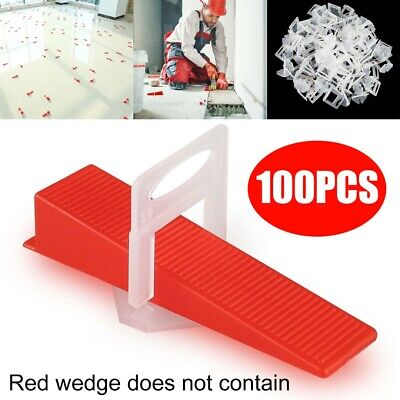 100 X Tile Leveling Spacer System Tool Clips Wedges Flooring Plier Tools·UK • 4.99£