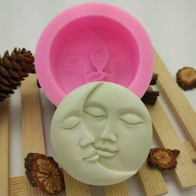 Sun&Moon Faces Silicone Soap Molds Craft Molds DIY Handmade Soap Mould Tool·uk • 4.89£