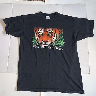 $ CDN32 • Buy Vintage Eye On Survival XL USA Single Stitch  T Shirt 90s Tennessee River Tag