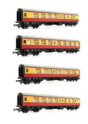 Hornby Triang 'oo' Gauge Rake Of 4 Br Crimson & Cream Mk1 Passenger Coaches • 39.50£