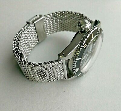 'Bond' Mesh Bracelet For Omega Seamaster - Stainless Steel BOND Type Watch Strap • 29£