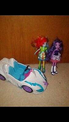 My Little Pony Equestrian Girls And Car, Twilight Sparkle And Rainbow Dash  • 8.99£