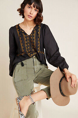 $ CDN98.21 • Buy Anthropologie DOLAN Collection Astrid Embroidered Peasant Blouse (S)