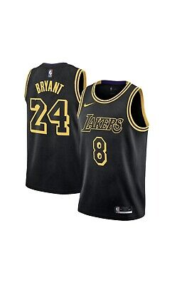 AU248 • Buy LA Lakers Kobe Bryant City Edition Swingman Jersey Black Mamba Youth Medium 8 24