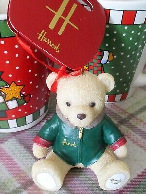 Harrods Christmas Resin 2020 FOOT DATED BEAR New Tag Limited Supply  • 19£