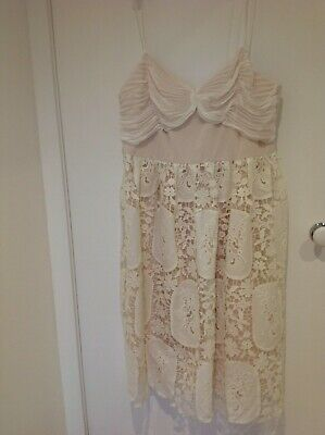 AU27 • Buy NEW ASOS Dress Formal/Party Pale Pink And White Size US 14/Aus 18 With Tags